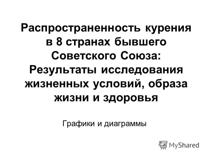 Распространенность курения в 8 странах бывшего Советского Союза: Результаты исследования жизненных условий, образа жизни и здоровья Графики и диаграммы