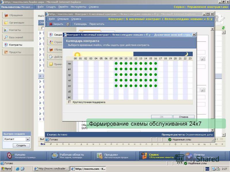 Формирование схемы обслуживания 24х7