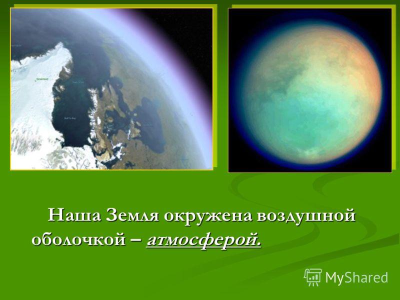 Наша Земля окружена воздушнойоболочкой – атмосферой.