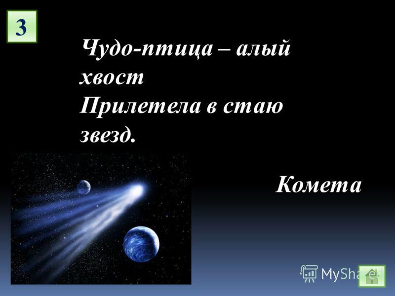 3 Чудо-птица – алый хвост Прилетела в стаю звезд. Комета