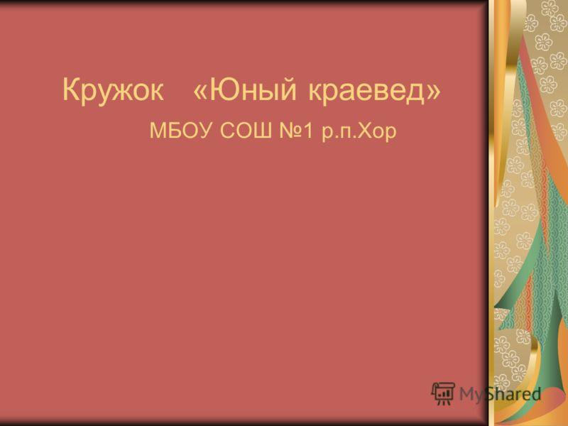 Кружок «Юный краевед» МБОУ СОШ 1 р.п.Хор