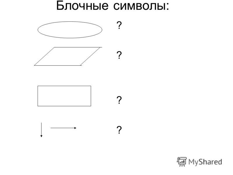 Блочные символы: ? ? ? ?