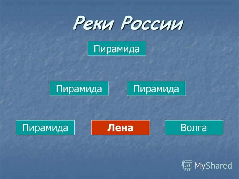 Пирамида ЛенаВолга Реки России