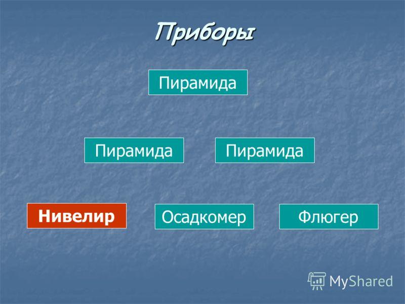 Пирамида Нивелир ОсадкомерФлюгер Приборы