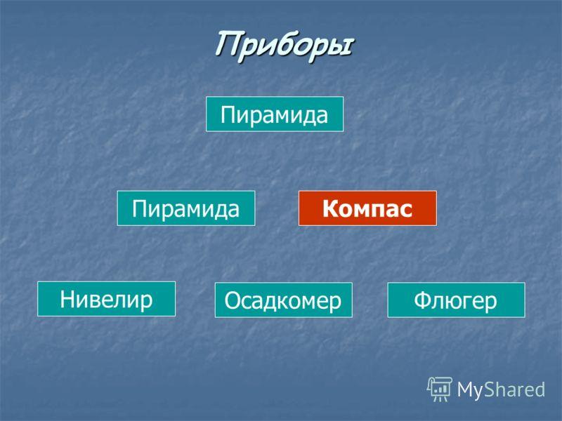 Пирамида Компас Нивелир ОсадкомерФлюгер Приборы