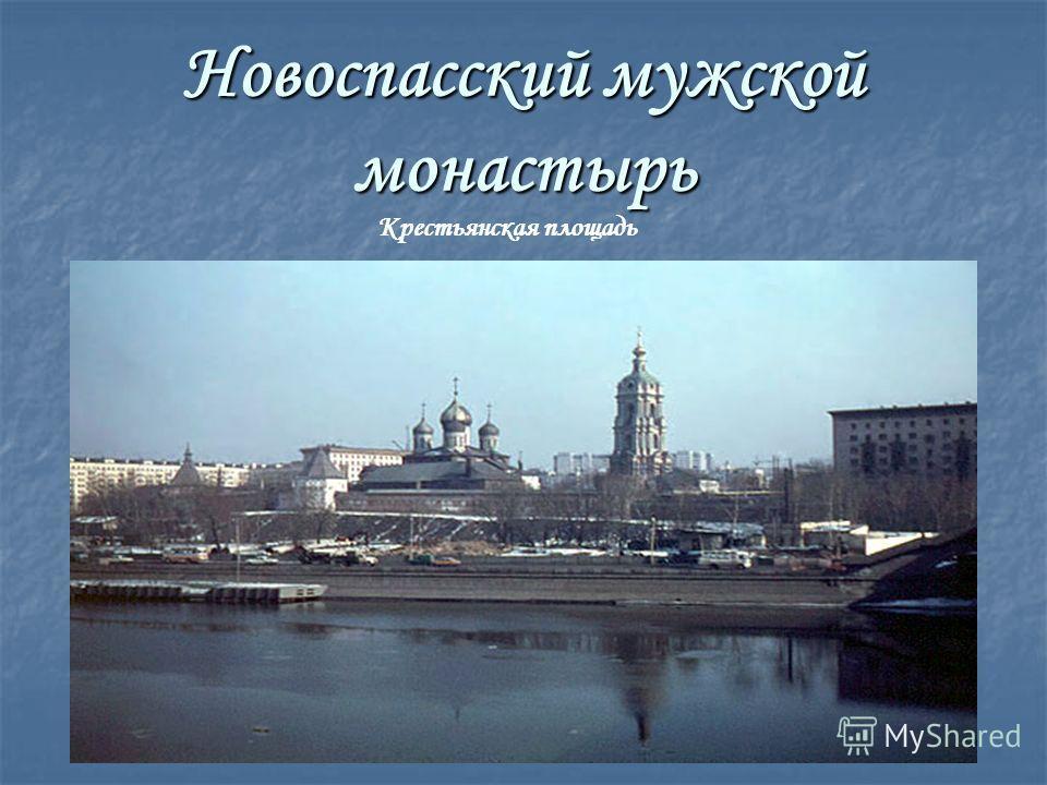 Новоспасский мужской монастырь Крестьянская площадь