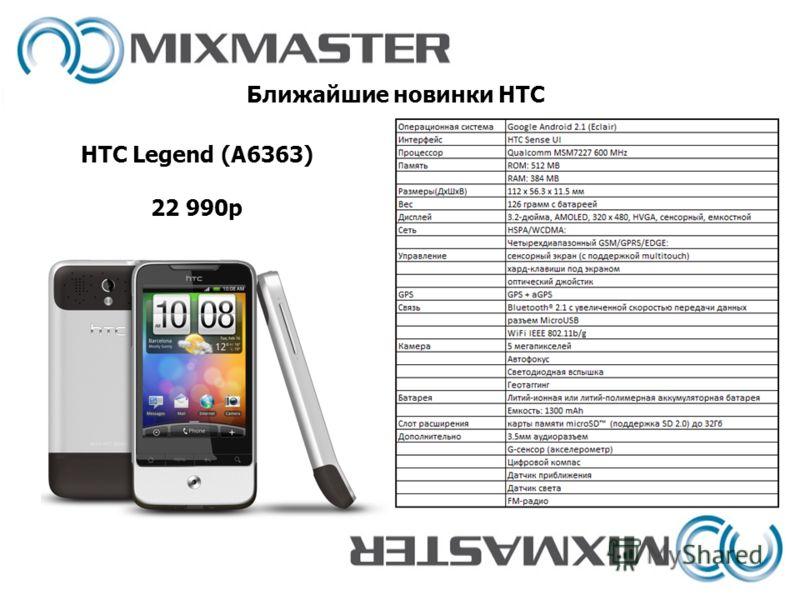 Ближайшие новинки HTC HTC Legend (A6363) 22 990р