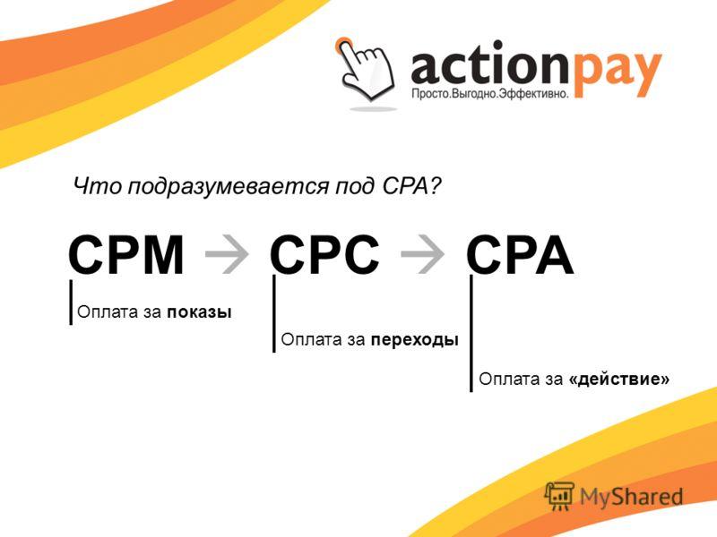CPM CPC CPA Оплата за показы Оплата за переходы Оплата за «действие»