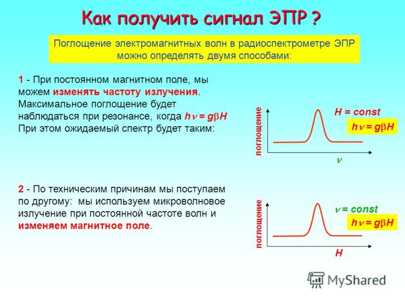 Прибор Завойского для измерения ЭПР