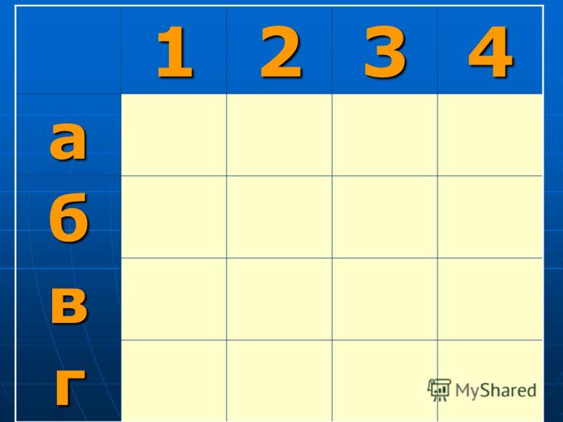 1234 а13?2 б?231 в312? г2?13