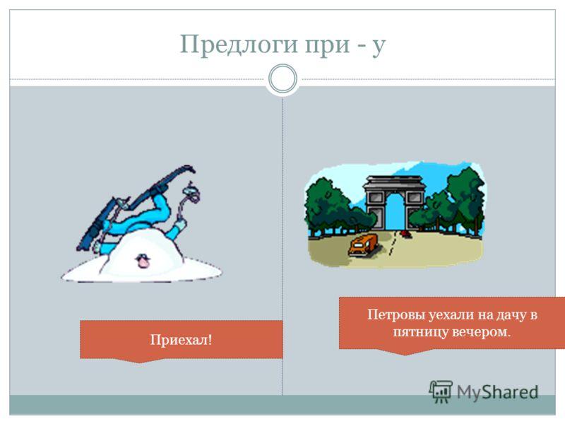 Приставки употребляемые с глаголами движения