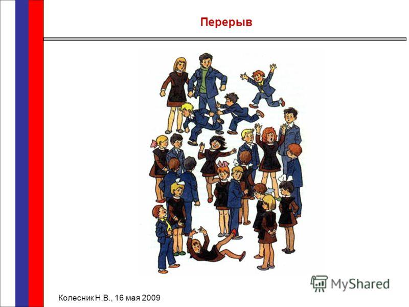Перерыв Колесник Н.В., 16 мая 2009