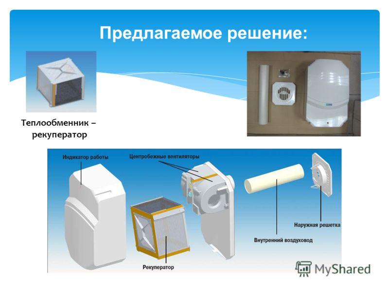 Предлагаемое решение: Теплообменник – рекуператор