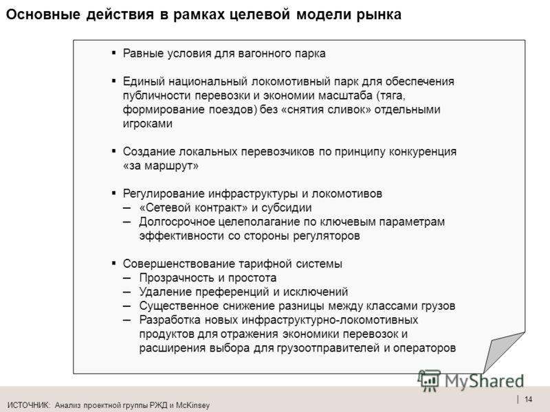 | 13 Целевая тарифная система для инфраструктуры и локомотивов должна основываться на