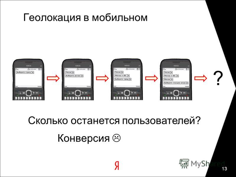 Геолокация в мобильном 13 ? Сколько останется пользователей? Конверсия