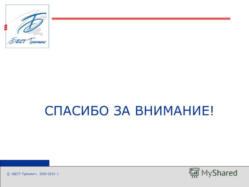 © «БЕСТ-Тренинг», 2000-2010 г. СПАСИБО ЗА ВНИМАНИЕ!