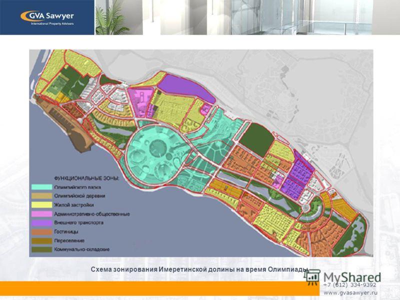 +7 (812) 334-9392 www.gvasawyer.ru Схема зонирования Имеретинской долины на время Олимпиады