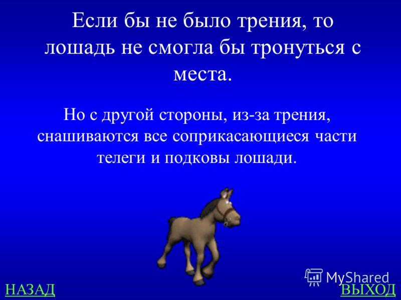 Веселые задачи 300 Лошадь везет телегу. Где здесь сила трения полезна, а где вредна?