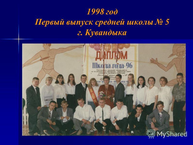 1998 год Первый выпуск средней школы 5 г. Кувандыка