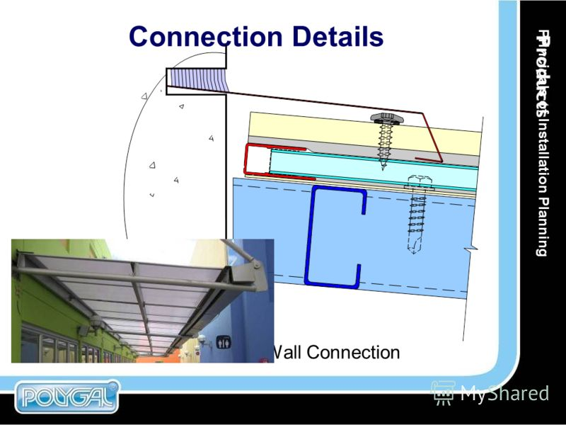 Connection Details Wall Connection Principals of Installation Planning