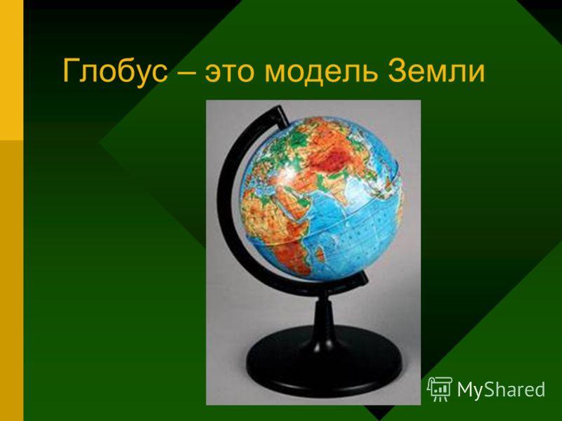Глобус – это модель Земли