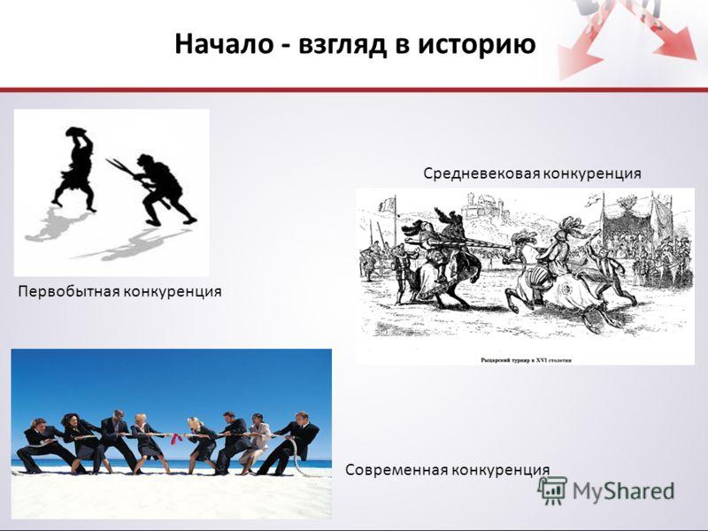 Начало - взгляд в историю Первобытная конкуренция Средневековая конкуренция Современная конкуренция