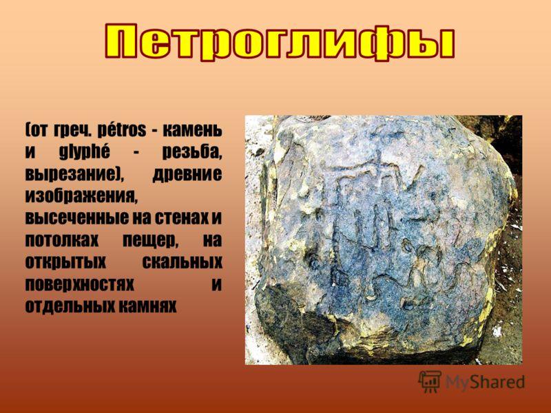 (от греч. pétros - камень и glyphé - резьба, вырезание), древние изображения, высеченные на стенах и потолках пещер, на открытых скальных поверхностях и отдельных камнях
