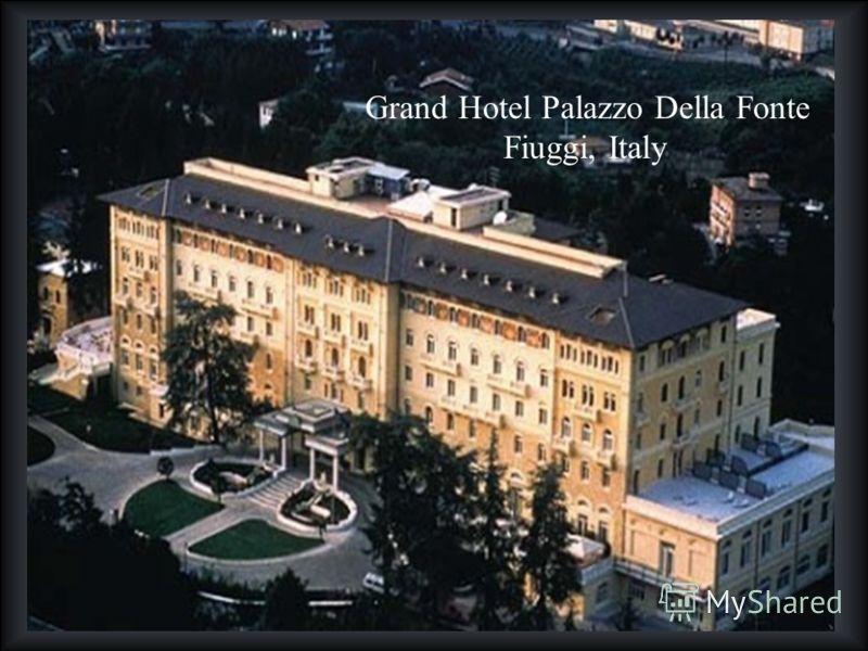 Grand Hotel Palazzo Della Fonte Fiuggi, Italy