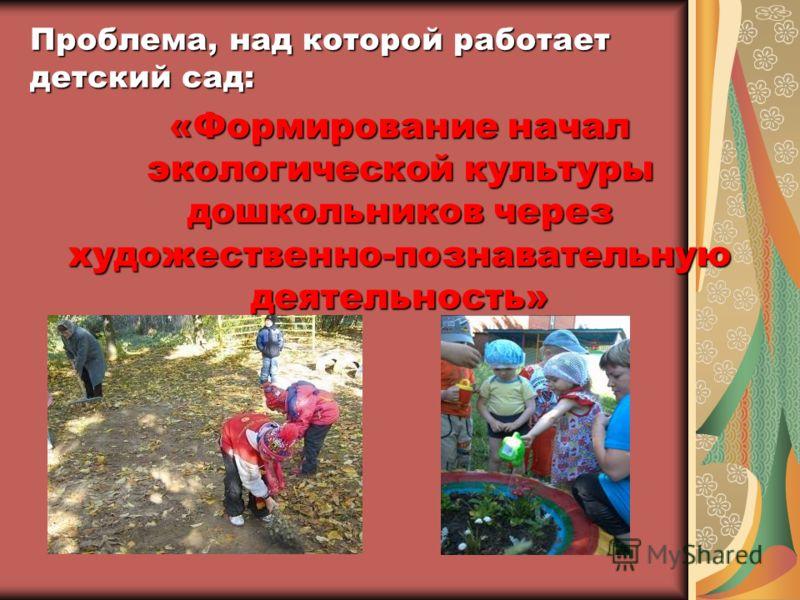 Проблема, над которой работает детский сад: «Формирование начал экологической культуры дошкольников через художественно-познавательную деятельность»