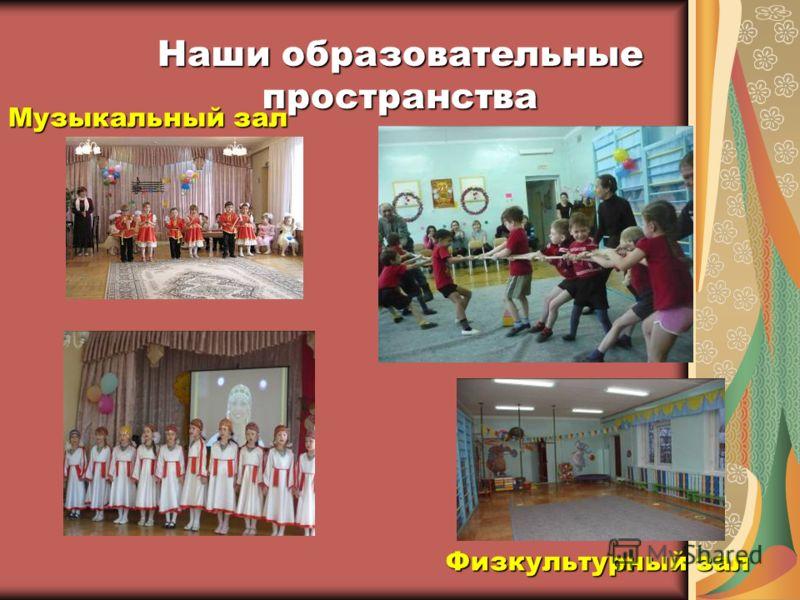 Наши образовательные пространства Физкультурный зал Музыкальный зал