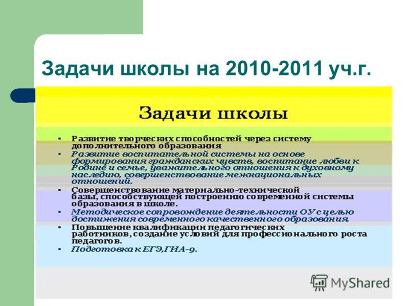 Задачи школы на 2010-2011 уч.г.