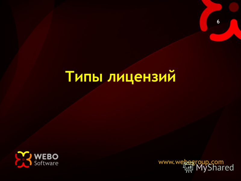 www.webogroup.com 6 Типы лицензий