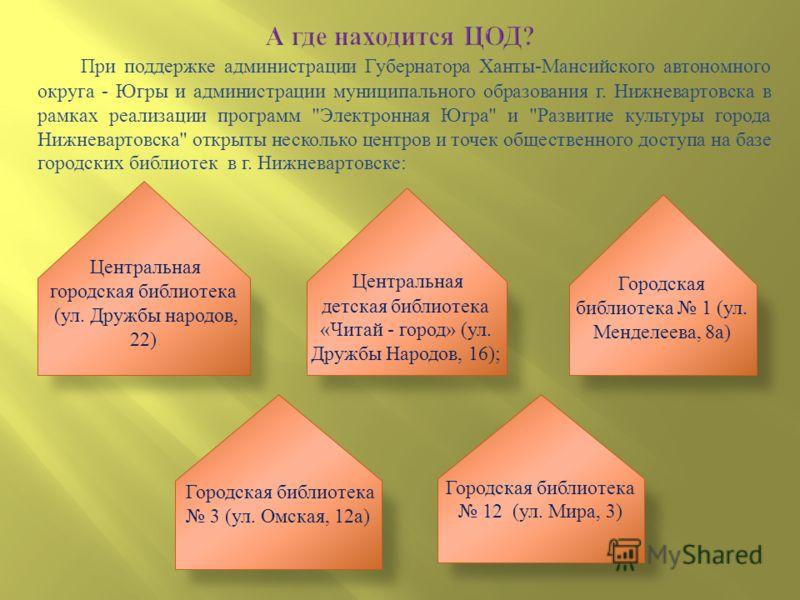 При поддержке администрации Губернатора Ханты - Мансийского автономного округа - Югры и администрации муниципального образования г. Нижневартовска в рамках реализации программ