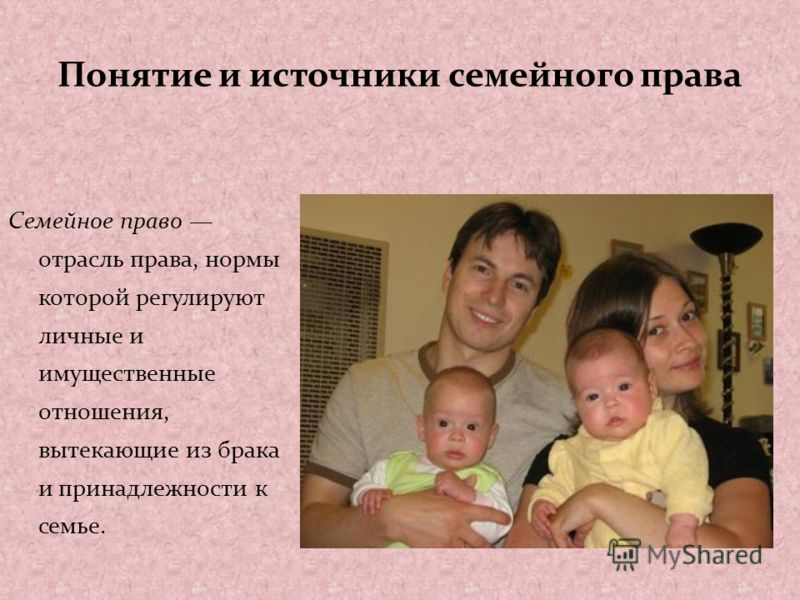 Понятие и источники семейного права