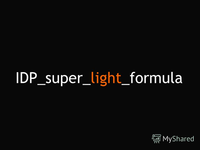 IDP_super_light_formula
