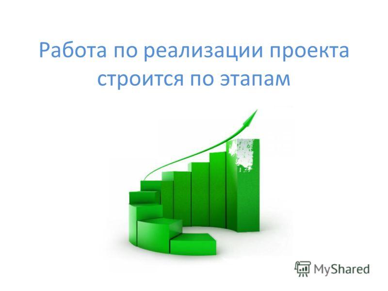 Работа по реализации проекта строится по этапам