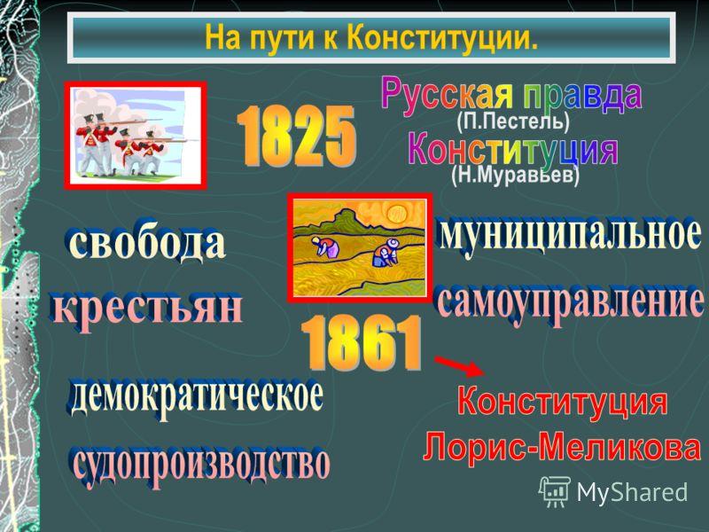 На пути к Конституции. (П.Пестель) (Н.Муравьев)