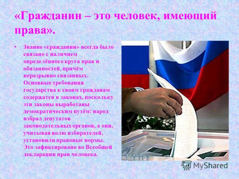Я гражданин россии презентация
