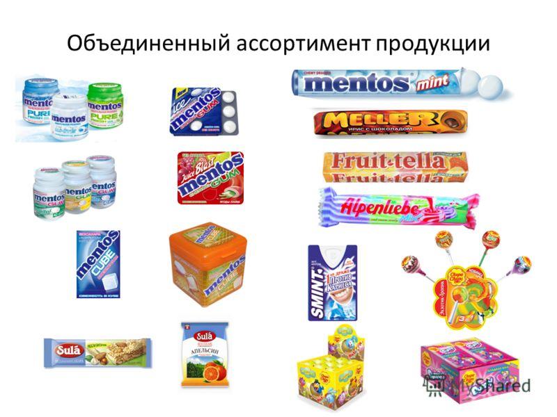 Объединенный ассортимент продукции