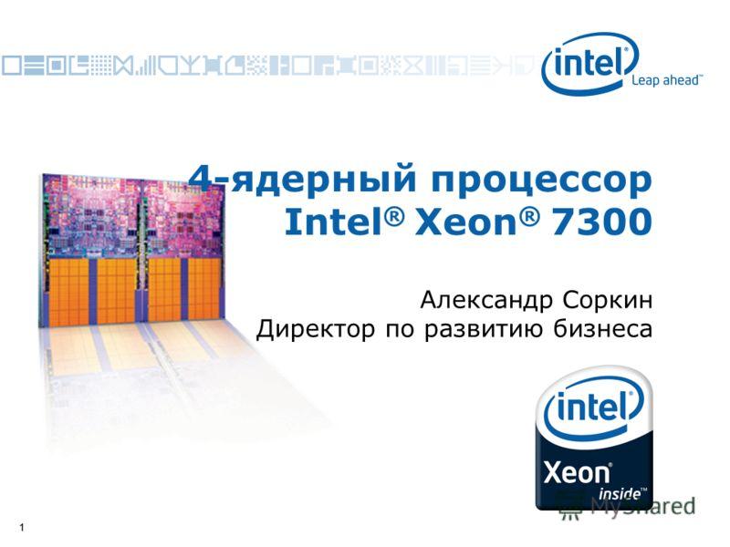11 4-ядерный процессор Intel ® Xeon ® 7300 Александр Соркин Директор по развитию бизнеса