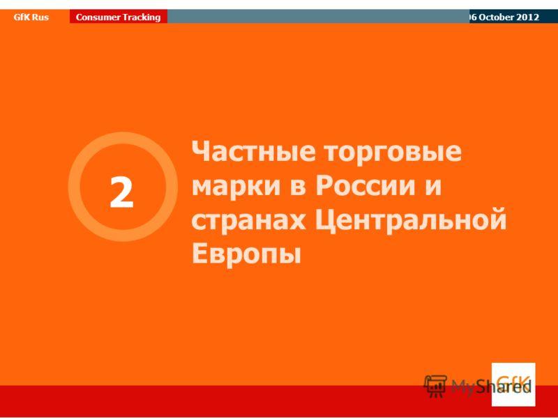 07 August 2012 GfK RusConsumer Tracking Частные торговые марки в России и странах Центральной Европы 2
