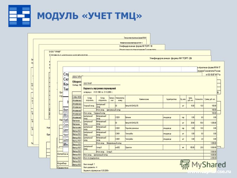 МОДУЛЬ «УЧЕТ ТМЦ» www.capitalcse.ru
