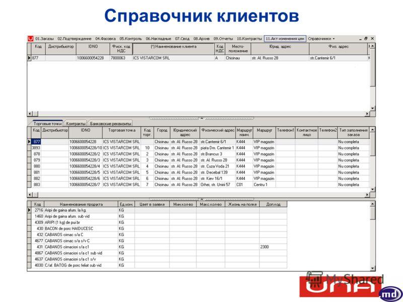 Справочник клиентов