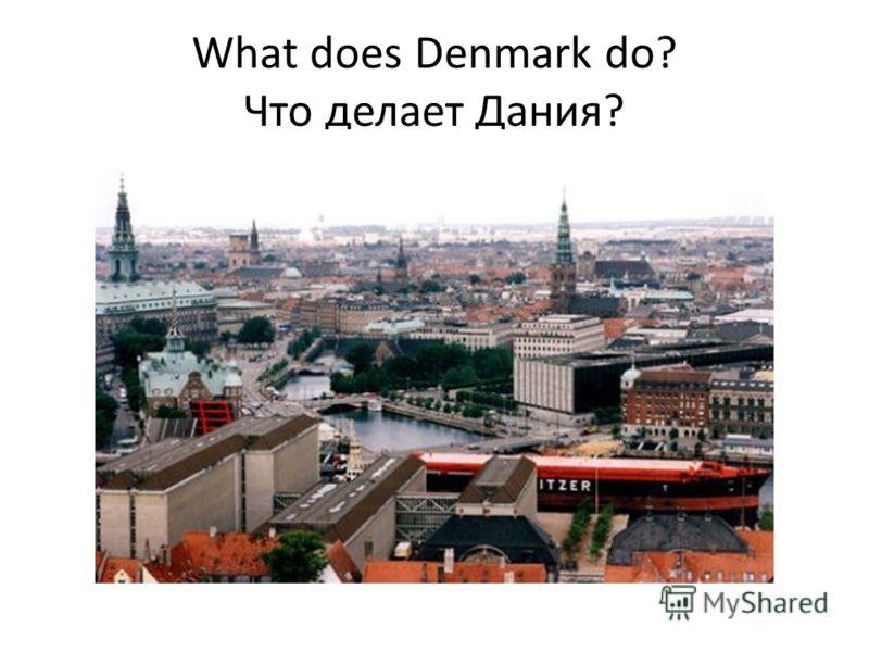 What does Denmark do? Что делает Дания?