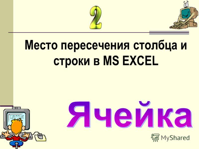 Место пересечения столбца и строки в MS EXCEL