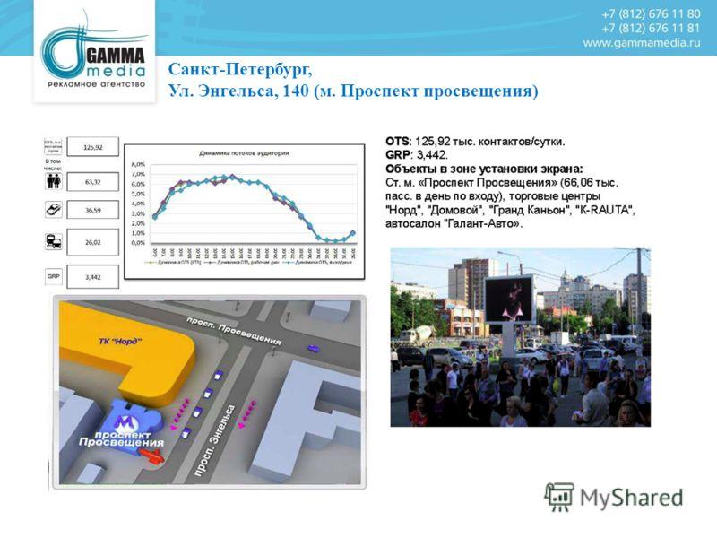 Санкт-Петербург, Ул. Энгельса, 140 (м. Проспект просвещения)