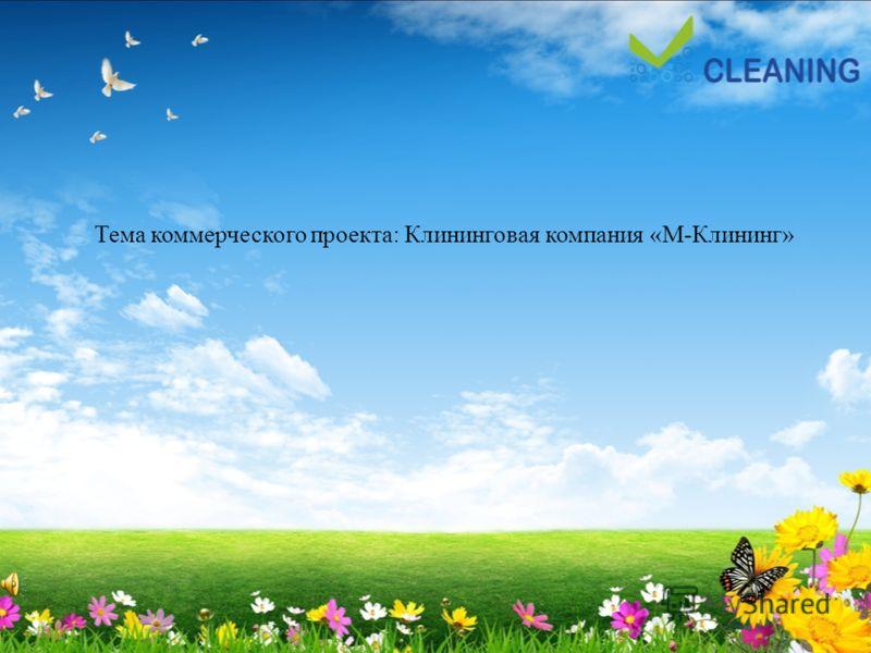 Тема коммерческого проекта: Клининговая компания «М-Клининг»