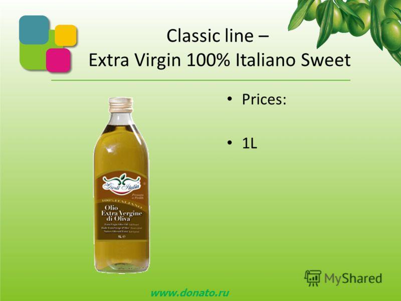 Classic line – Gusti Italia Это наш а стандартн ая лини я Оливкового масла. Очень высокое качество по очень конкурентоспособной цене. Виды Оливково го масл а GUSTI ITALIA : Отфильтрован ное- сладкий вкус ; Неотфильтрован ное – сладкий вкус ; Отфильтр