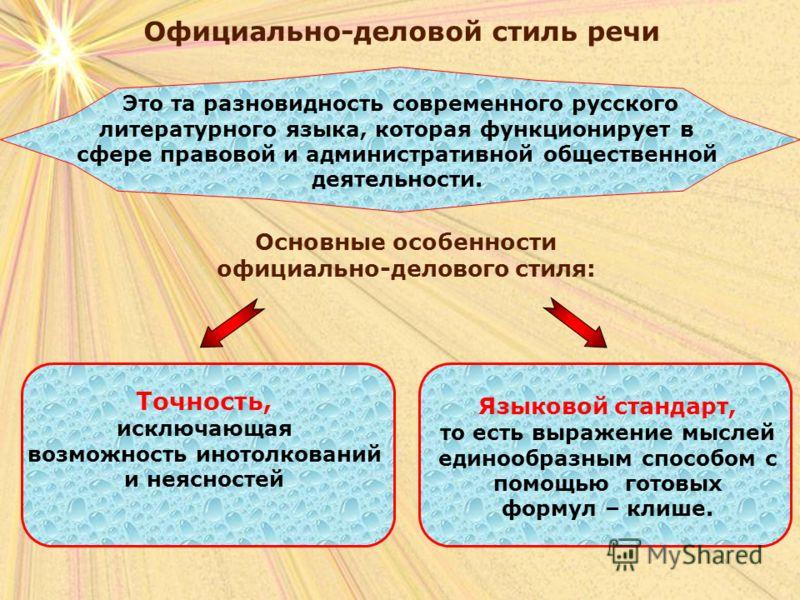 Стиль речи функциональные стили речи