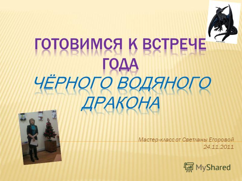 Мастер-класс от Светланы Егоровой 24.11.2011